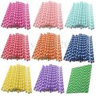 25X Colorful Love Heart Paper Drinking Straws Wedding Party Birthday Decoration