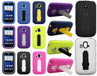 ZTE Overture Z995 IMPACT Hard Rubber Case Phone Cover Kickstand Accessory
