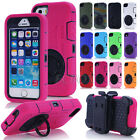 3 Layer Combo Heavy Duty Ring Pull-tab Stand Case Cover +Belt Clip For iPhone 5C