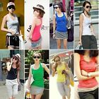 Hot Basic Womens Sleeveless Tank Top Back Cami Vest No Sleeve T-Shirt