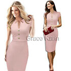3 Colors Women Wear to Work Business Evening Ball Party Bodycon Pencil Dress NEW