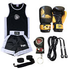 Boxing Uniform Set of 2 For Kids Age 5 Till 12 & Boxing Gloves (1005) 4-OZ 6-OZ