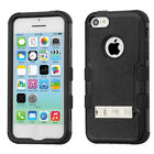 iPhone 5C Rubber IMPACT TUFF HYBRID KICK STAND Case Phone Cover + Screen Guard
