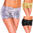 New Sexy Womens Sequins Hot Pants Low Rise Party Clubwear Show Shorts Trousers