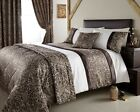 Jacquard Leopard Design Duvet Quilt Cover Bed Set Throw Double King Super King
