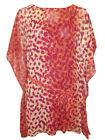 NEW LADIES TWIGGY FOR MARKS & SPENCER ANIMAL PRINT KAFTAN TUNIC TOP SIZE 8 -20