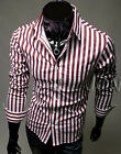 HOT SALE❤Strip Dress Shirts Formal Party Slim Fit Long Sleeve Casual Shirts XS~L