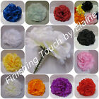 144Silk flower Artificial Carnation picksBlack or MIX COLOURS Wedding Funerals .