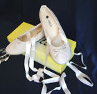 #CS02 NEW GIRL Slippers Flat Ballet StyleRibbon Tie BEIGE 4-7 Years Old With Box
