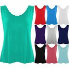 Womens Sleeveless Cropped Scallop Edge Vest Ladies Tank Camisole Cami Top 8-14
