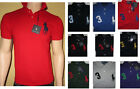 Ralph Lauren Herren Piqué- Poloshirt, Shirt, Hemd, Big Pony,Custom Fit, NEU