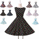 NEW Classy Vintage 50s Rockabilly Cocktail Prom Party Retro Swing Dress S M L XL