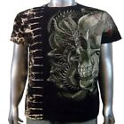 Japanese Tattoo Tee Chinese Dragon Animal Skull Tie Dye Mens T-shirt XL & XXL
