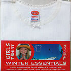 Girl Kids Thermal Underwear Soft Quality Tee T-Shirt Poly Cotton Warm Winter