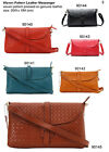 Ladies Real Leather Woven Bag Handbag Cross Body Clutch Shoulder Gift Idea Her