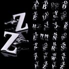 Lot Novelty Initials Letters A to Z Stainless Steel Silver mens Cuff Links