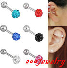 1x CZ Crystal Disco Ball Barbell Tragus Cartilage Ear Stud Earring Body Piercing