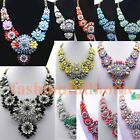 Fashion Beauty Jewelry Acrylic Crystal Choker Chunky Statement bib Necklace