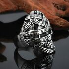 Gothic Men's Mummy Skull Biker Ring Stainless steel US 8-12#