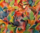 Feathers & Wings Print Dress Fabric 100% Polyester Satin Material  -  Per Metre
