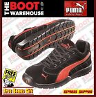 "Puma Composite Toe Cap Safety Work Jogger / Shoes 'Silverstone 642637"" . Blk/Red"