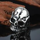 Gothic Men's Halloween Jewelry Stainless Steel Casting process Skull Finger Ring