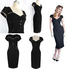 New Women Bodycon V-Neck Sheath Tight Pinup Tunic Party Clubwear Dress Hot