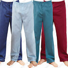 2 pack pyjamas bottoms trousers mens plain poly cotton LOUNGE  pants champion