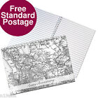 NEW PERSONALISED MAP NOTEBOOK CHOOSE FROM 5 DESIGNS FREE P&P WEDDING ANNIVERSARY