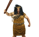 XL CAVE MAN FANCY DRESS JUNGLE COSTUME OPTIONAL CLUB PREHISTORIC CAVEMAN