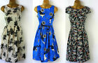 *NEW* DOROTHY PERKINS DP SUMMER DRESS BLUE, IVORY PALM TREES OR DITSY FLORAL