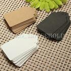 100pcs 7x4cm Kraft Paper Gift Tags Wedding Scallop Label Brown Blank Luggage