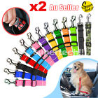 2x Pet Car Vehicle Seat Belt Safety Seat Belt Harness Leash Lead Dog Cat Adjust