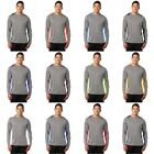 Dry Zone Moisture Wicking Heather Colorblock Mens Long Sleeve dri fit T-shirts