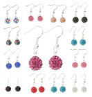 Pure Clear Crystal Rhinestone Bayberry Design Hook Earring For Wedding 12 Colors