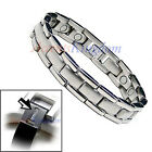 MEN'S MAGNETIC THERAPY POWER TITANIUM GOLF BRACELET T12