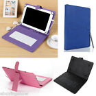 "Leather Case Cover Stand for 10"" 10.1"" 10.2"" Android Tablet PC PDA w/ Keyboard"