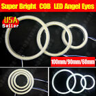 2x Muti-Color COB LED Angel Eyes Halo Ring Headlight&Fog Light 60/70/80/90/100mm