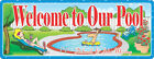 Personalized Welcome to Our Pool Sign with Lounging Woman and Man in Pool $149.95 USD on eBay