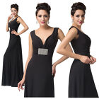 SEXY LADY Gown Evening Prom Deep V Cocktail Homecoming Pageant Party Pinup Dress