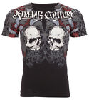 Xtreme Couture Affliction Mens S/S T-Shirt REDEMPTION Skulls BLK Biker M-4XL $40 image
