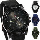 New Men Women Military Army Bomber Fabric Canvas Strap Sports Quartz Wrist Watch