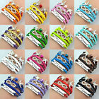 Mix Style Fashion UnsexiInfinity Leather DIY  Charm Bracelet Gift Friendship Hot