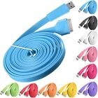 3M 10FT Noodle Flat USB Data Sync Charger Cable Cord For Apple iPhone 4 4S 4th