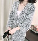 HOT Women's Casual Knitted Long V-Neck Sweater Loose Cardigan Coats Outwear