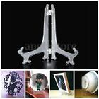 Clear/Black Photo Display Easel Stand Plate Bowl Picture Frame Pedestal Holder