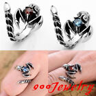 316L Stainless Steel Cubic Zirconia Evil Scorpion Ring Gothic Men US7-11