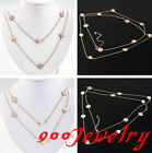 Vintage Golden Acrylic Flower 2 Layer Choker Elegant Necklace