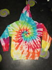 CUSTOM make your own Rainbow Tie Dye Hippy Hoody UNISEX SIZES S-XXL festival