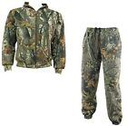 MENS HUNTERS JACKET TROUSER SET Gents tough cotton wood camo suit hoody bottoms